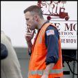 """""""Ben Affleck sur le tournage de son film  The Tow n. Septembre 2009 """""""