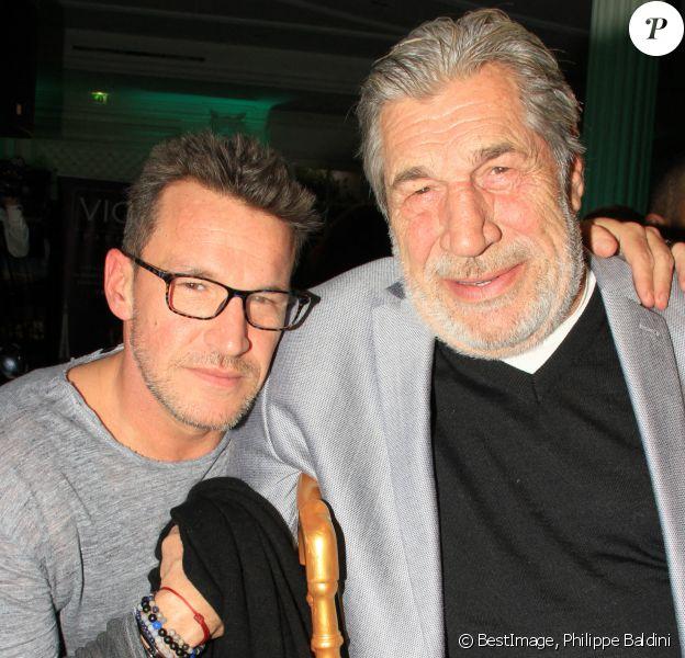 Benjamin Castaldi et son père Jean-Pierre Castaldi - L'association Citestars fait son cabaret et fête ses 20 ans lors de l'élection de Miss Beauté nationale à l'hôtel InterContinental à Paris. © Philippe Baldini/Bestimage