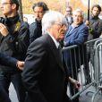 Bernie Ecclestone arrive à l'audience du Conseil Mondial de la FIA, le 21 septembre 2009 à Paris