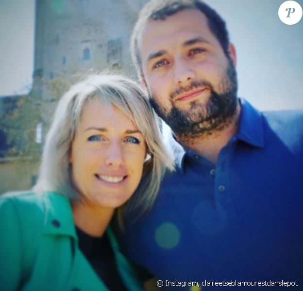 """Claire de """"L'amour est dans le pré 2015"""" avec son fiancé Sébastien au Lac De Génos Loudenvielle, sur Instagram"""