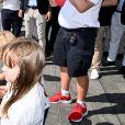 """La princesse Charlène de Monaco, le prince Albert II de Monaco, le prince Jacques de Monaco et la princesse Gabriella de Monaco - La famille princière de Monaco à l'arrivée de la 3ème édition de la course """"The Crossing : Calvi-Monaco Water Bike Challenge"""". Monaco, le 13 septembre 2020. © Bruno Bebert/Bestimage"""