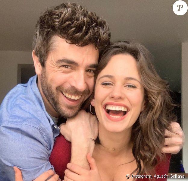 Agustín Galiana et Lucie Lucas sur Instagram (septembre 2020).