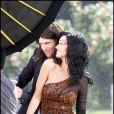 Katy Perry sur le tournage du clip de Starstrukk, nouveau single du groupe 3OH!3