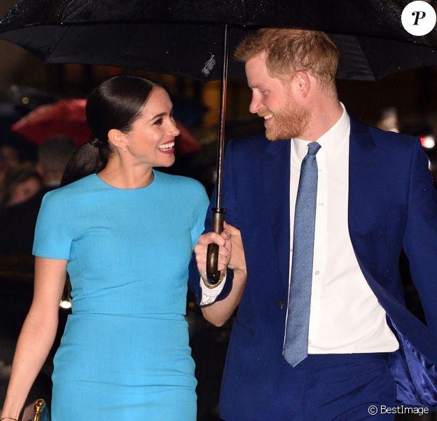 Le prince Harry, duc de Sussex, et Meghan Markle, duchesse de Sussex arrivent à la cérémonie des Endeavour Fund Awards à Londres