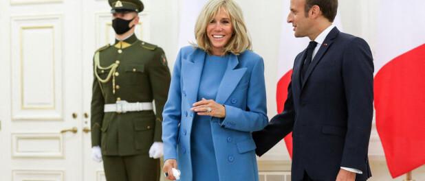 Brigitte et Emmanuel Macron : Geste tendre et belle complicité en Lituanie