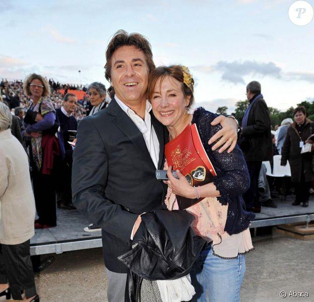 Julie Depardieu et Roberto Alagna, le 12 juin 2008, lors de la présentation des Contes d'Hoffmann.