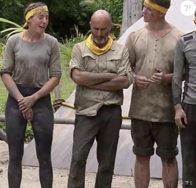 """L'équipe jaune dans """"Koh-Lanta, Les 4 Terres"""" sur TF1."""