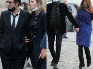 Nicolas Bedos accompagné, Julien Clerc avec sa femme, pour honorer Jean-Loup Dabadie