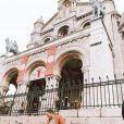 """Aubin de """"Koh-Lanta 2020"""" à Montmartre avec son fils Noré, le 14 juillet 2020, photo Instagram"""