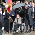 Charlotte Aillaud, la soeur de Juliette Gréco - Sorties des obsèques de Juliette Gréco en l'église Saint-Germain-des-Prés. Le 5 octobre 2020 © Jacovides-Moreau / Bestimage