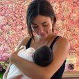 Vincent Queijo et Rym Renom parents d'une petite fille prénommée Maria-Valentina - Instagram