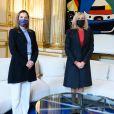 Brigitte Macron accueille son homologue mexicaine, la première Dame Beatriz Gutierrez Muller à l'Elysée. Paris, le 8 octobre 2020. © Jacques Witt / Pool / Bestimage
