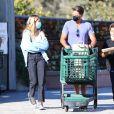 David Charvet est allé faire des courses avec ses enfants Shaya et Heaven à Los Angeles pendant l'épidémie de coronavirus (Covid-19). Le 16 juillet 2020.