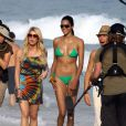 Jessica Simpson sur la plage d'Ipanema au Brésil, septembre 2009