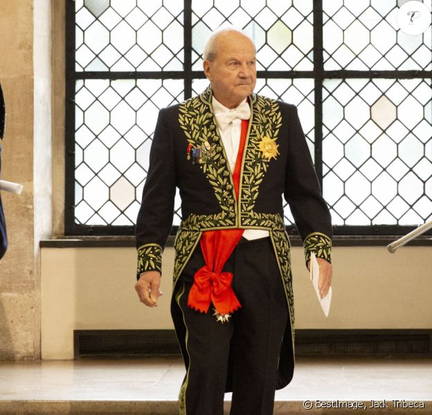 Exclusif - Marc Ladreit de Lacharrière - Cérémonie d'installation de Gérard Garouste à l'Academie des Beaux-Arts à Paris. © Jack Tribeca/Bestimage