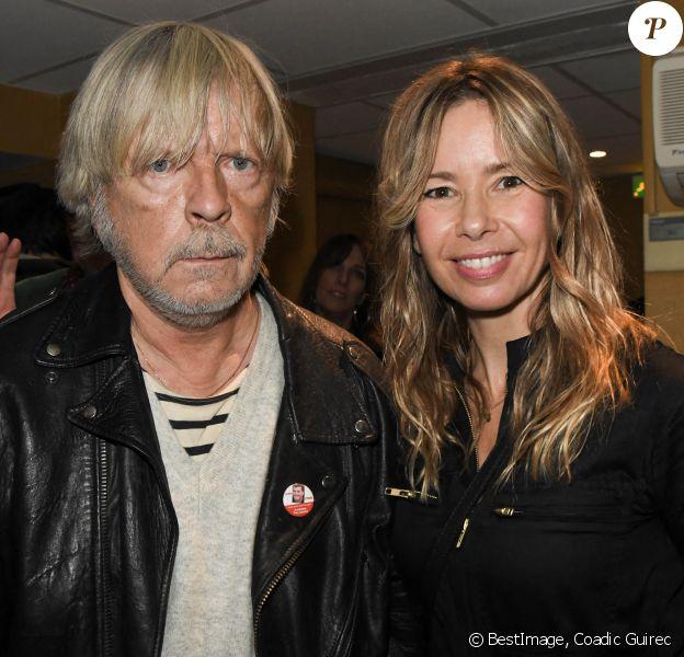 Exclusif - Le chanteur Renaud (Renaud Séchan) et son ex-femme Romane Serda - People au concert de Dave à Bobino à Paris, il y a un an. © Coadic Guirec/Bestimage