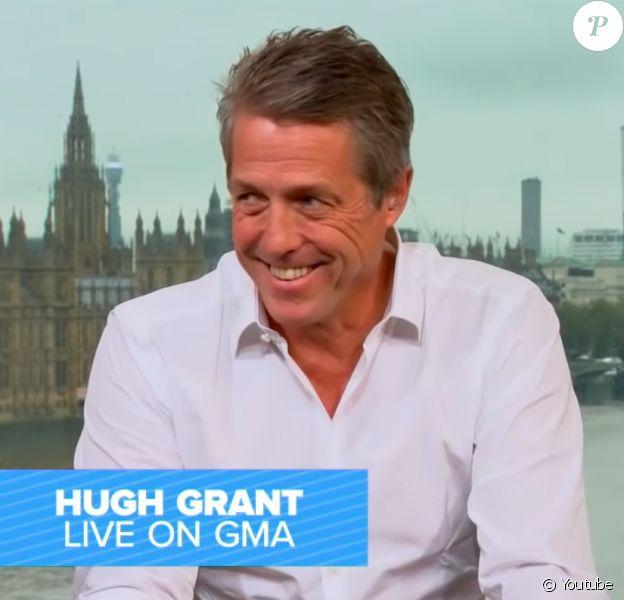 """Hugh Grant dans l'émission """"Good Morning America"""", octobre 2020."""