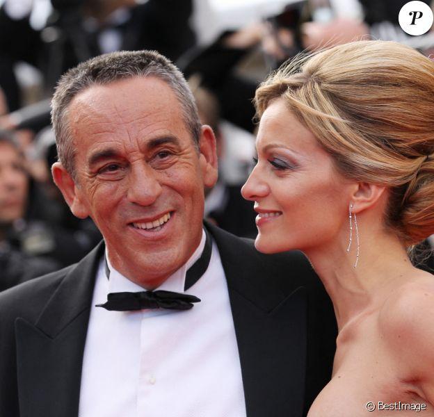 Thierry Ardisson et Audrey Crespo-Mara - Montée des marches lors du Festival de Cannes.