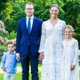 La princesse Victoria de Suède, le prince Daniel, la princesse Estelle, le prince Oscar - La famille royale de Suède se retrouve au palais Solliden pour le Victoria Day, l'anniversaire de la princesse Victoria de Suède à Borgholm le 14 juillet 2020.