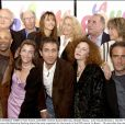 © Serge Arnal/ABACA. 44909-4. Paris-France, 22/4/2003. Actress Sophie Marceau, Brigitte Fossey, actor Claude Brasseur, Daniele Thompson, Sheila O'Connor & Alexandre Sterling attend the party organized for the launch of the DVD movie 'La Boum' , 20 years after the release.