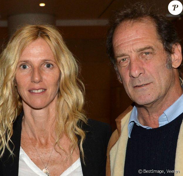 Sandrine Kiberlain et Vincent Lindon - Présentation de la rétrospective de Vincent Lindon à la cinémathèque française à Paris. © Veeren/Bestimage