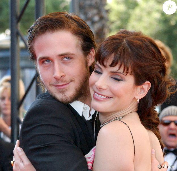 """Sandra Bullock et Ryan Gosling à Cannes, en mai 2002, pour le film """"Murder by Numbers"""". © Hahn-Nebinger-Petit/ABACA."""