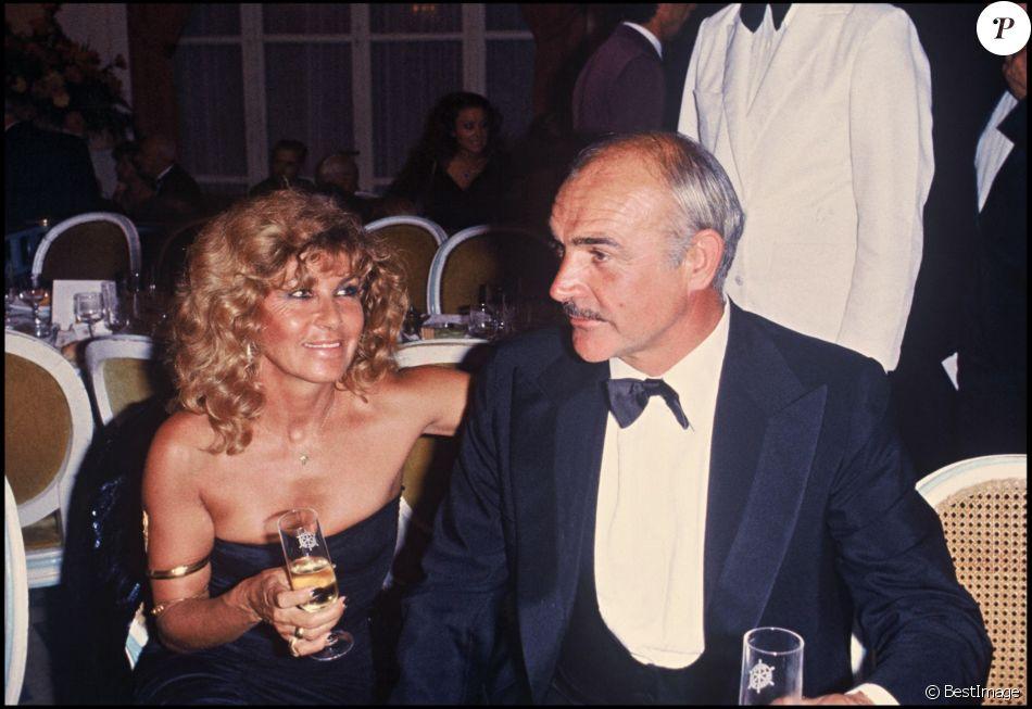 Sean Connery et sa femme Micheline Roquebrune - Archives. 1981 - Purepeople