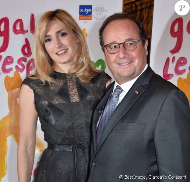 François Hollande et sa compagne Julie Gayet - 27ème Gala de l'Espoir de la Ligue contre le cancer au Théâtre des Champs-Elysées à Paris. © Giancarlo Gorassini/Bestimage