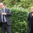 François Hollande et sa compagne Julie Gayet - Claude Chirac, son mari Frédéric Salat-Baroux et son fils Martin Rey-Chirac se sont rendus au musée du président Jacques Chirac de Sarran en Corrèze le 5 octobre 2019.
