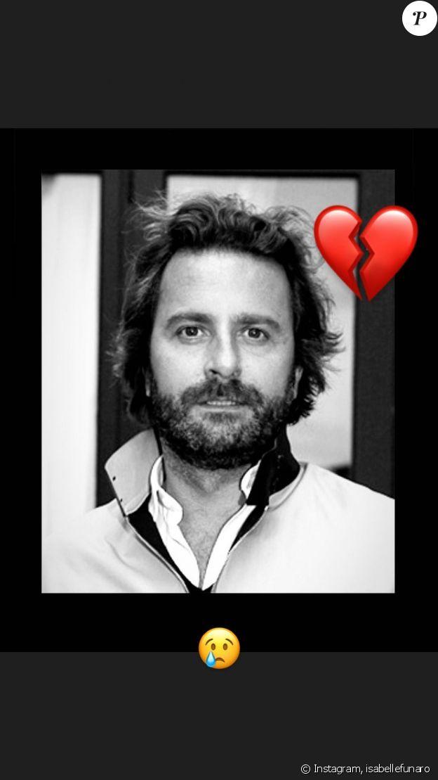 Isabelle Funaro a posté cette photo du défunt producteur Cyril Colbeau-Justin sur Instagram.