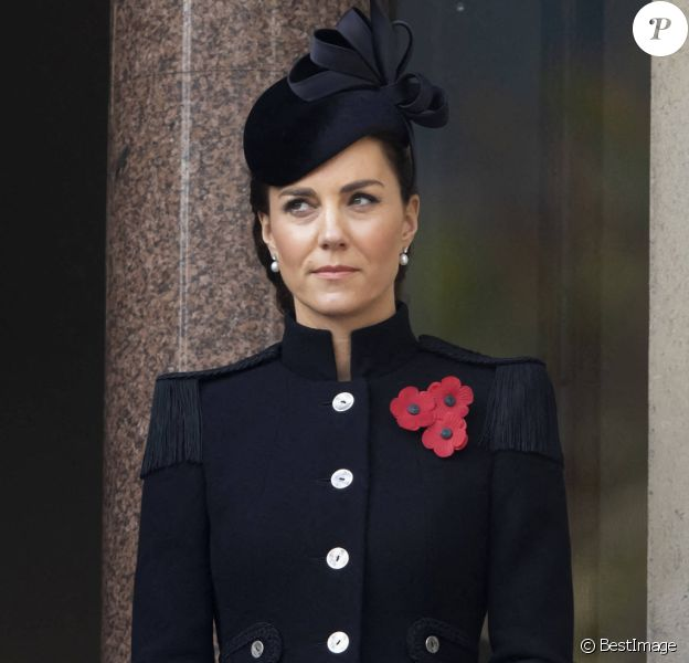 Catherine Kate Middleton, duchesse de Cambridge - La famille royale au balcon du Cenotaph lors de la journée du souvenir (Remembrance day) à Londres, novembre 2020