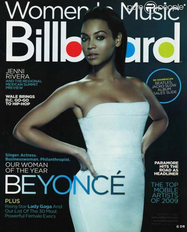 Beyoncé en couverture de  Billboard  magazine, le 3 octobre 2009.