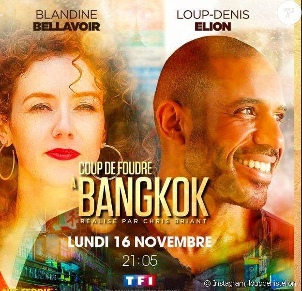 """Loup-Denis Elion au casting de """"Coup de foudre à Bangkok"""" avec Blandine Bellavoir, romance et comédie diffusée sur TF1 le 16 novembre 2020."""