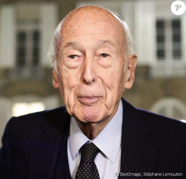 """Valéry Giscard d'Estaing - Dîner organisé par l'Institut Lecanuet intitulé """"L'Europe doit peser sur la primaire"""" au Sénat à Paris. © Stéphane Lemouton/Bestimage"""