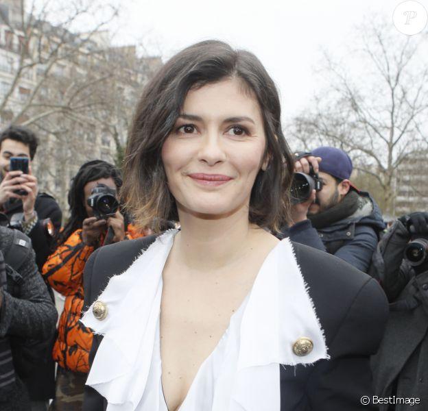 Audrey Tautou - Arrivées au défilé de mode prêt-à-porter automne-hiver 2020/2021 Balmain à Paris.