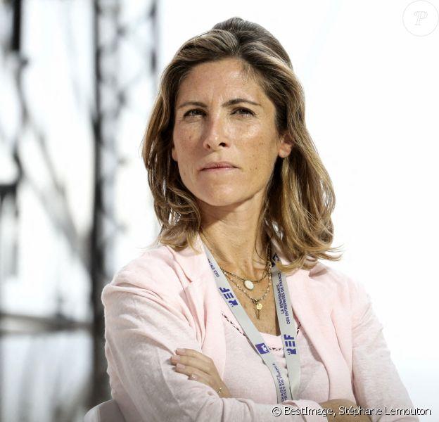 Julia de Funes, philosophe lors de la REF annuelle (Rencontre des Entrepreneurs de France), à l'Hippodrome de Longchamps © Stéphane Lemouton / Bestimage