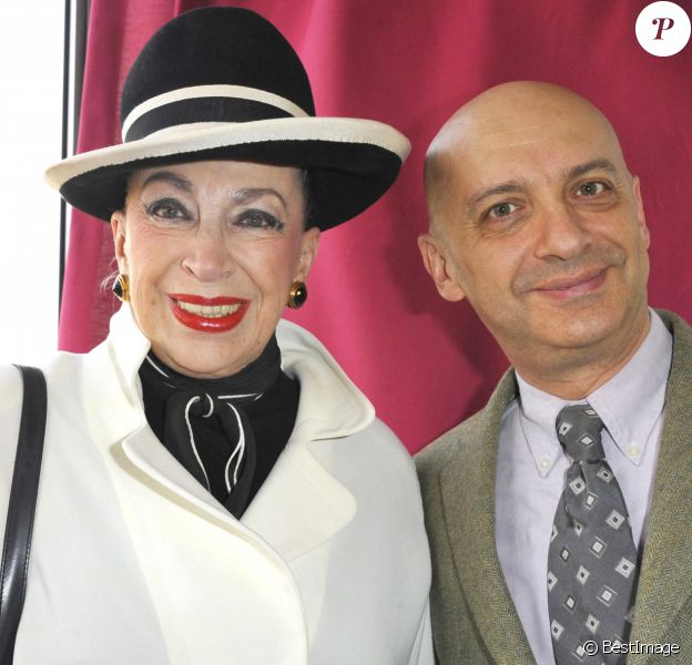 Geneviève de Fontenay avec son fils Xavier - 90ème Prix d'Amérique Marionnaud à l'hippodrome de Vincennes.