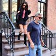 George Clooney et sa femme Amal Alamuddin Clooney sont à New York pour fêter leur 5e anniversaire de mariage, le 27 septembre 2019.