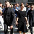 Roberta Armani et Richard Madden arrivent au défilé Giorgio Armani printemps/été 2020 lors la mode masculine à Milan, Italie, le 17 juin 2019.