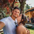 Alexander Ludwig et sa fiancée Lauren Dear en juillet 2020.