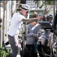 Nicole Richie victime d'un accident de la route. Elle est emmenée au Cedars Sinai Hospital par Joel Madden, pendant que l'autre conducteur est emmené par la police. Le 5 octobre 2009, à Los Angeles.