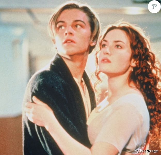 "Leonardo DiCaprio et Kate Winslet dans le film ""Titanic"", sorti en 1997."