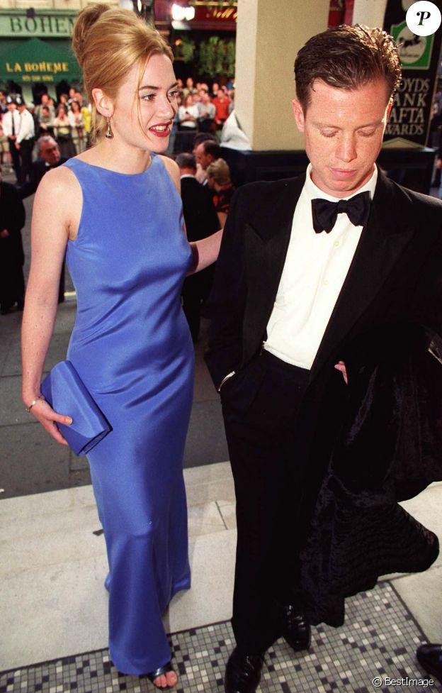 Kate Winslet et son compagnon Stephen Tredre en 1996.