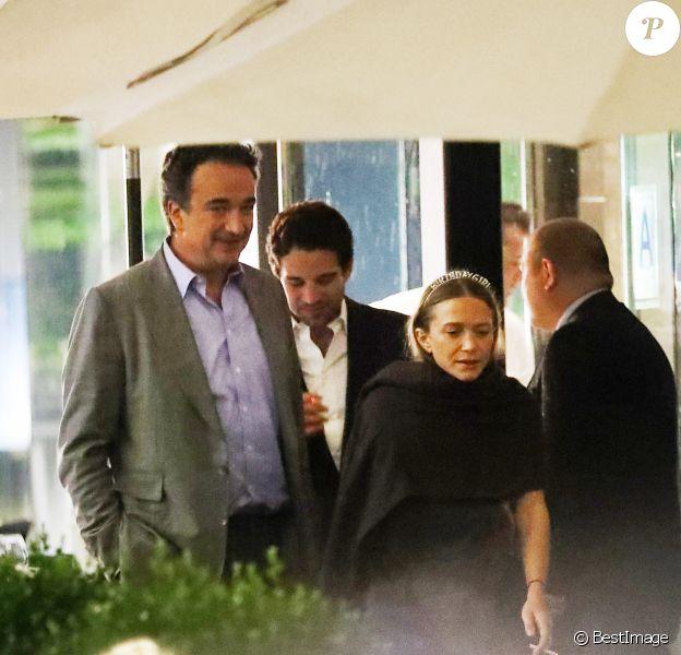 Exclusif - Olivier Sarkozy - Les soeurs Mary-Kate et Ashley Olsen fêtent leur anniversaire (33 ans) à New York.