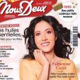 """Fabienne Carat en couverture du magazine """"Nous Deux""""."""
