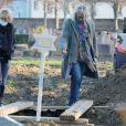 Pierre-Jean Chalençon assiste aux obsèques de Robert Castel (de son vrai nom Robert Moyal) au cimetière de Pantin, le 8 décembre 2020.