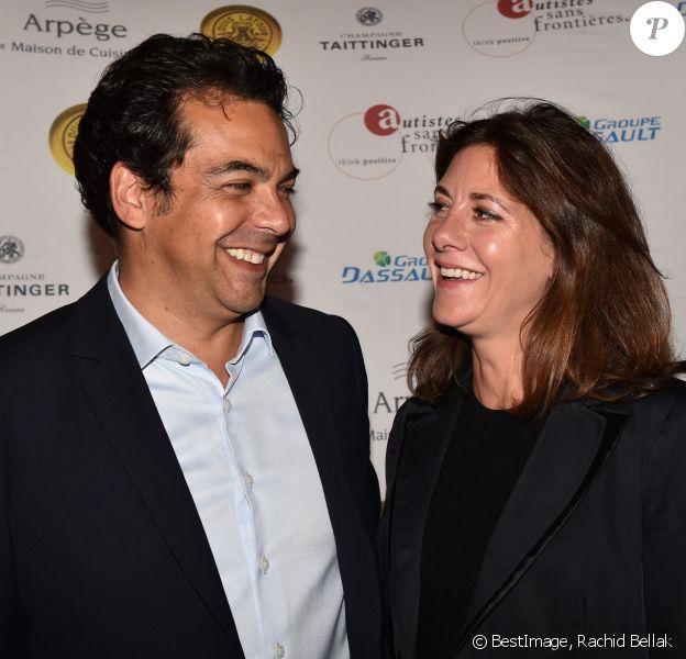 Exclusif - Patrick Cohen et sa femme Alexandra - Dîner de gala caritatif pour l'association Autistes Sans Frontières à l'hôtel Marcel Dassault à Paris, France. © Rachid Bellak/Bestimage