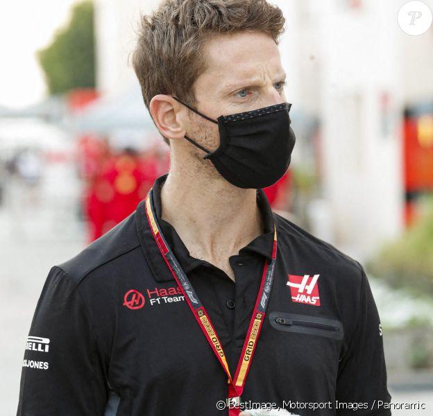 (Le pilote Romain Grosjean est forfait pour le Grand Prix d'Abou Dhabi et arrête sa carrière de pilote après son accident ) - Romain Grosjean, Haas F1 - Grand Prix de Sakhir. © Motorsport Images / Panoramic / Bestimage