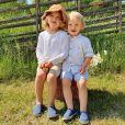 Le prince Alexander et le prince Gabriel de Suède en juin 2020. Le prince Carl Philip et la princesse Sofia sont restés en Suède au cours de l'été 2020, coronavirus oblige, et ont partagé avec leurs abonnés Instagram quelques-uns des endroits où ils se sont promenés et ressourcés avec leurs fils le prince Alexander et le prince Gabriel. © Instagram Prinsparet