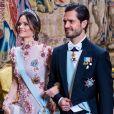 La princesse Sofia de Suède (Sofia Hellqvist ), le prince Carl Philip - La famille royale de Suède au traditionnel dîner de la cérémonie des Prix Nobel à Stockholm le 11 décembre 2019.